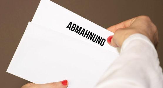 Filesharing Abmahnung
