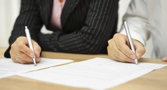 Scheidung unterschreiben